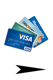 accept popular credit cards